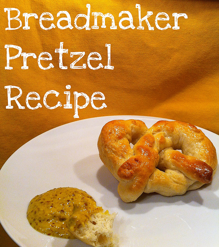 pretzel recipe for bread machine