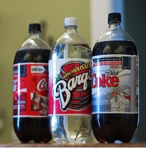 3 bottles of soda