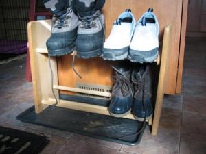 CD Rack as a boot rack