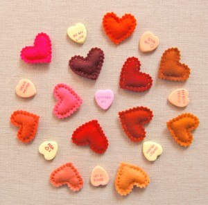 Felt Heart Pins