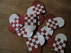 Paper woven hearts