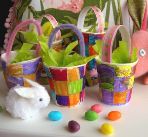 paper cup basket party favors