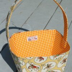 sewn fabric basket