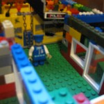 Closeup of Lego Creation