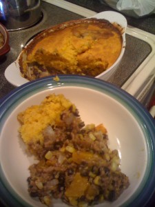 Mexican Casserole with Pumpkin