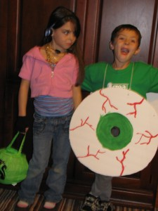 Eyeball and Rockstar Costumes