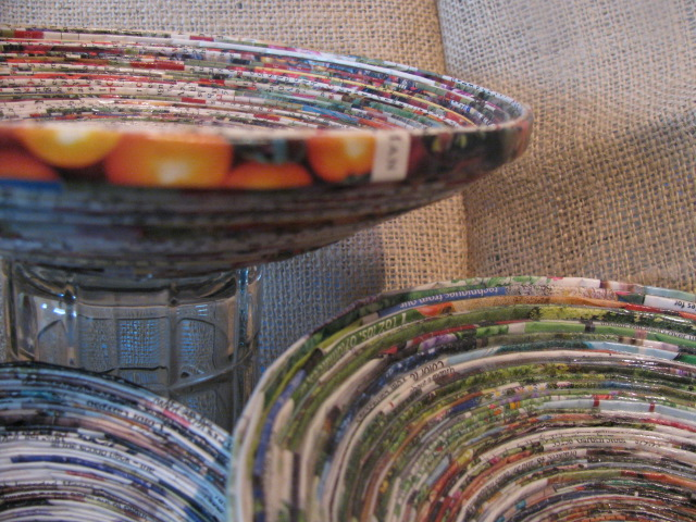 Tutorial: Coiled Magazine Paper Bowls - Frugal Upstate