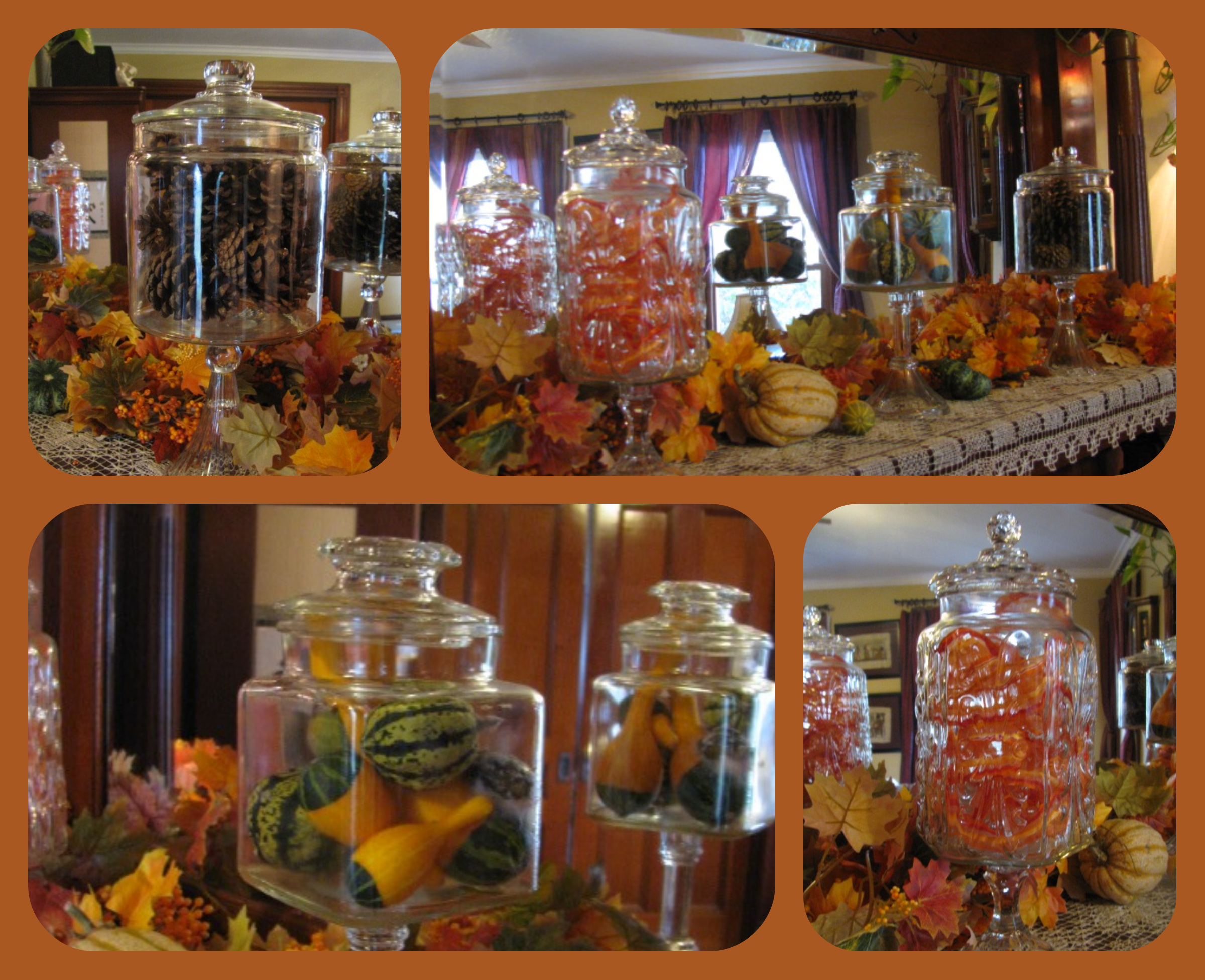 project idea apothecary style fall apothecary jar decorating cafe lighting 16400 natural linen