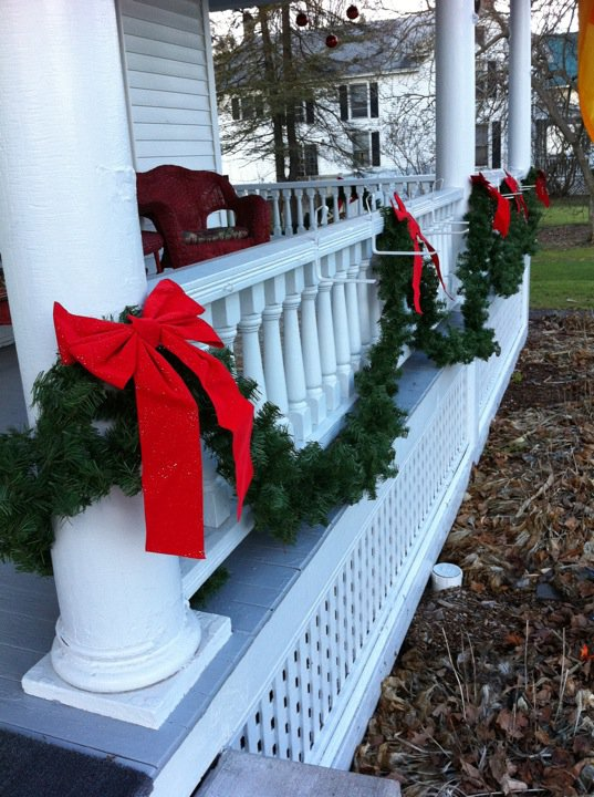 porch for christmas pin it