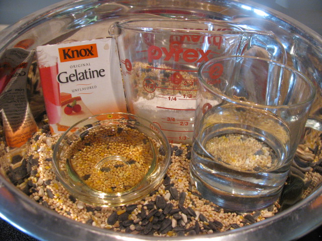 Image Result For Bird Seed Wreath Recipe Without Gelatin