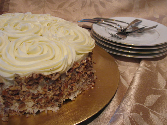 Cici's Carrot Cake and Homemade Cream Cheese Icing