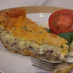 Cheeseburger Quiche without crust