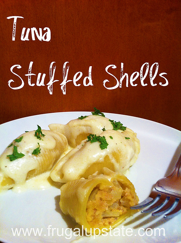 Tuna Stuffed Shells