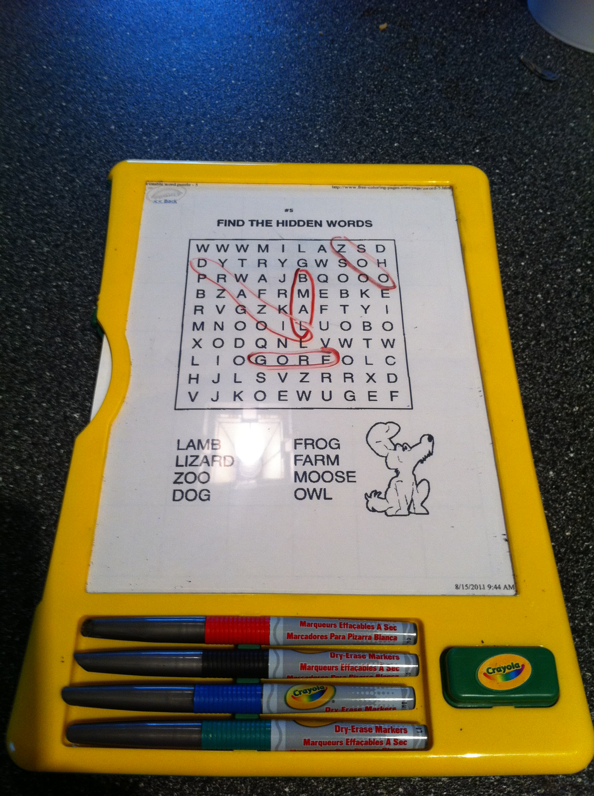 Dry Erase Markers, Pockets, Boards & Other Supplies