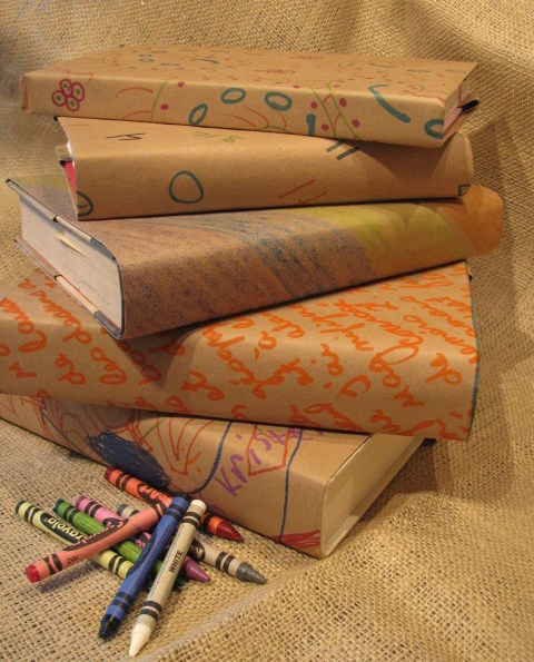 Book Covers For School Textbooks ~ Diy frugal fabulous back to school book covers
