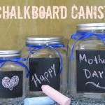DIY Chalkboard Canisters
