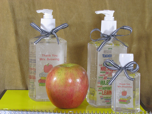 Diy teachers gift personalized hand sanitizer frugal upstate step pronofoot35fo Images