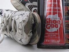 fixing sneaker shoe goo