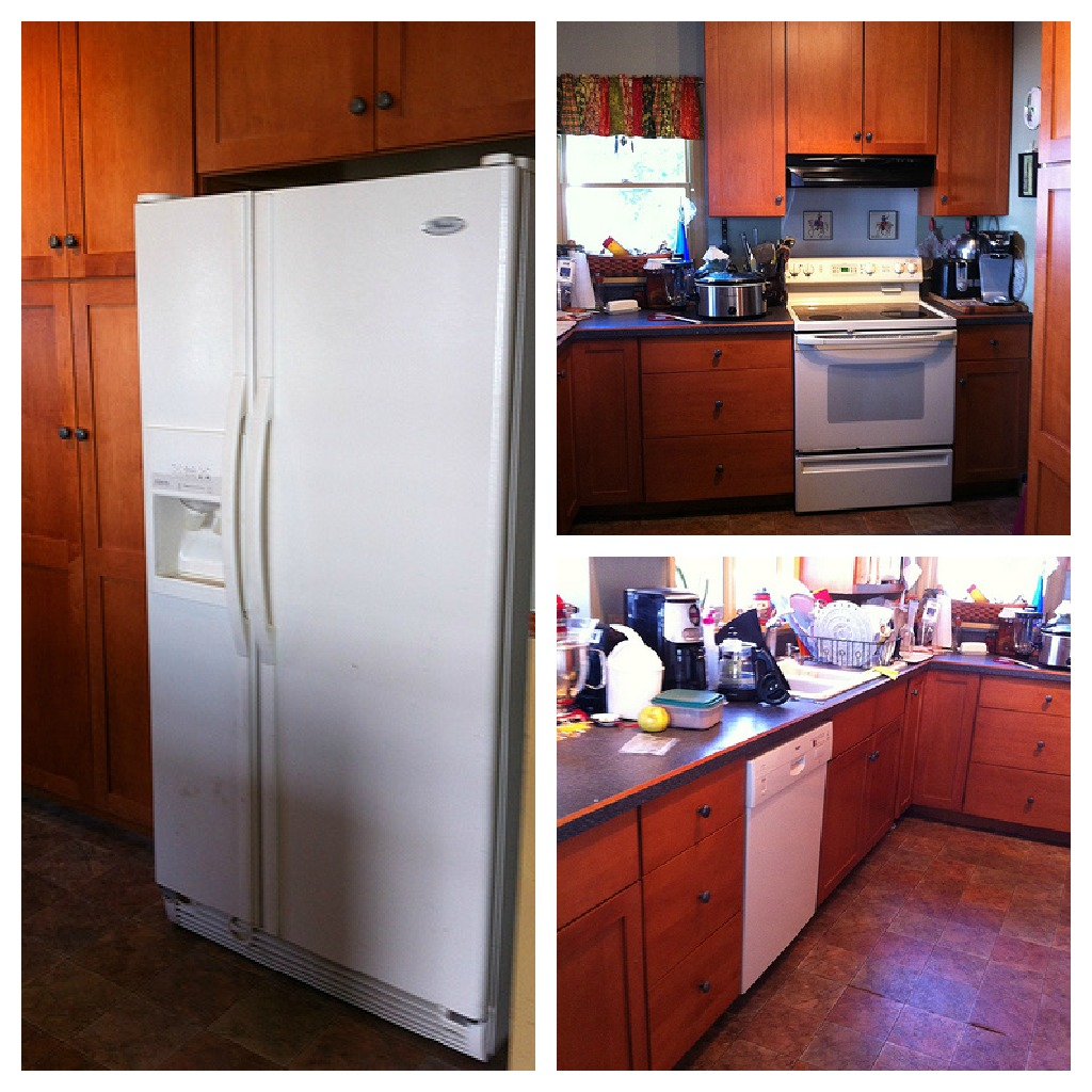My Kitchen Has Ugly Bathroom Tile: My Kitchen Arrived! ~Maytag Moms