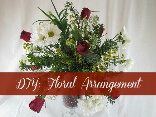 How To Make Floral Arrangements diy floral arrangement - frugal upstate