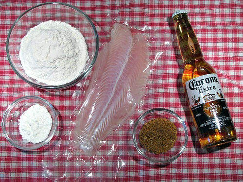Recipe corona battered fish tacos for lent or anytime for Swai fish walmart