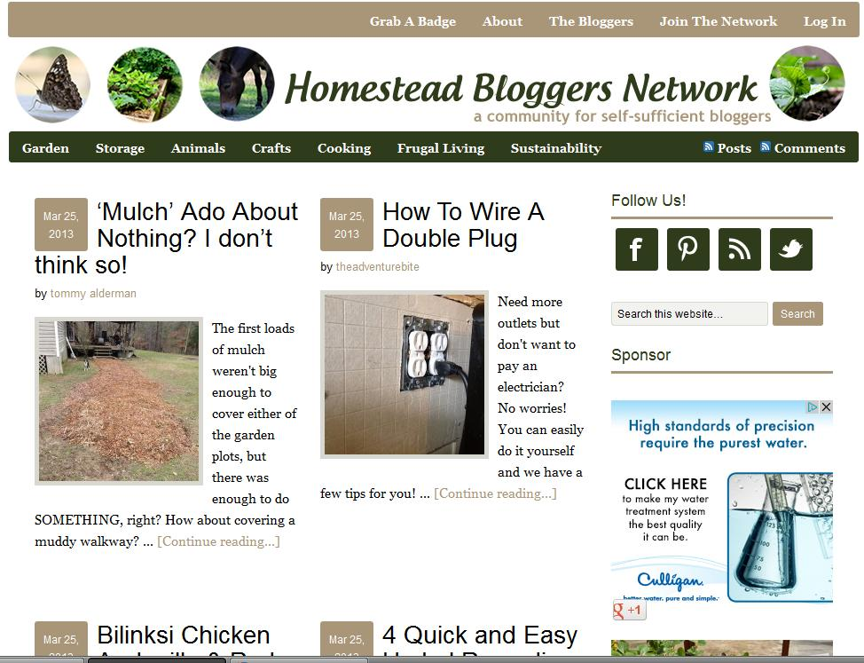 Homestead Bloggers Network homepage