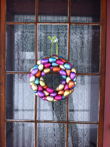 Metallic Easter Egg Wreath 2