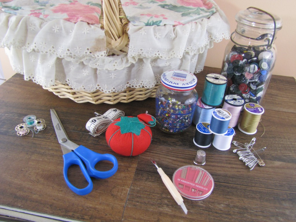 sewing and mending supplies