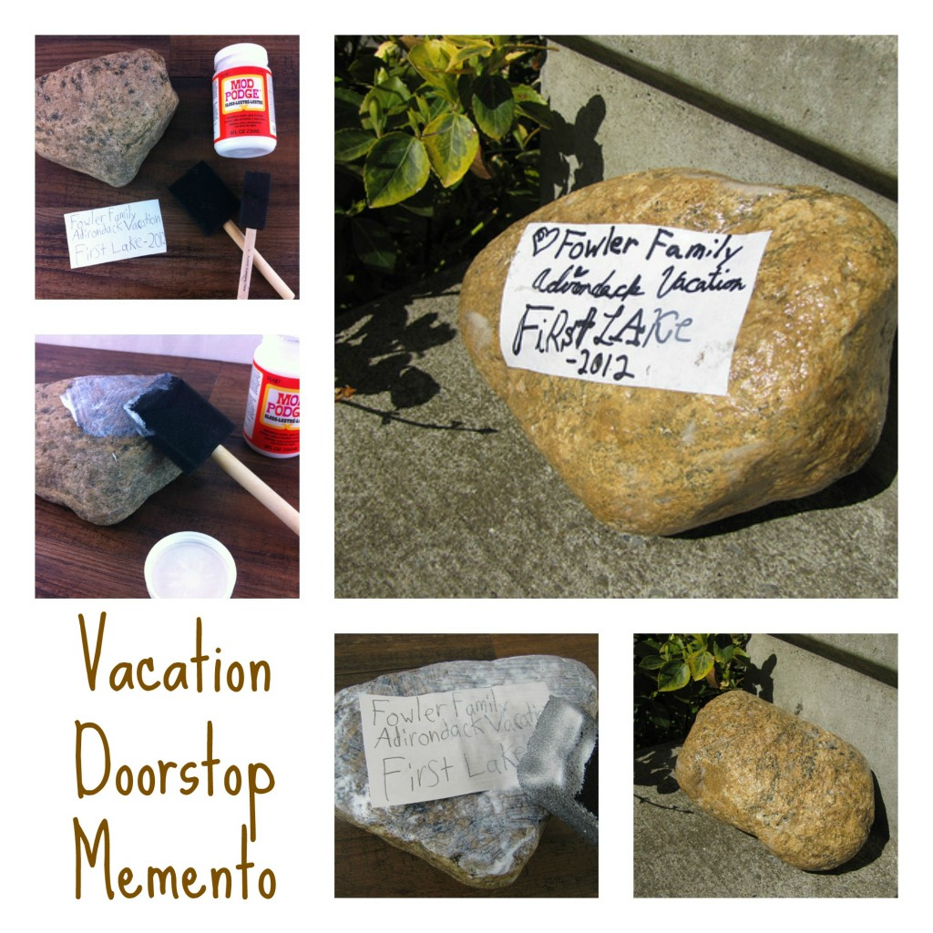 Vacation Rock Doorstop Memento