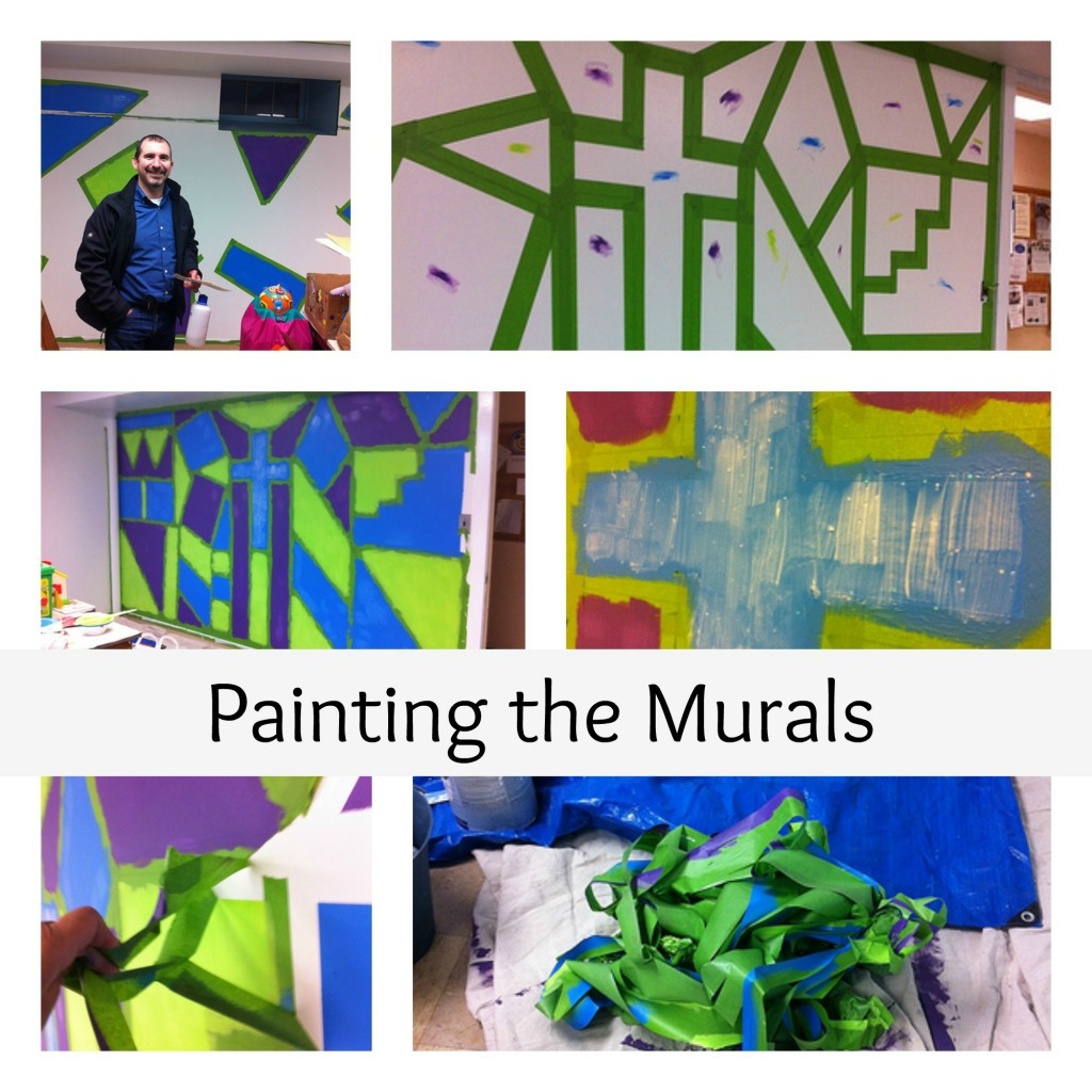 Painting the Murals Collage