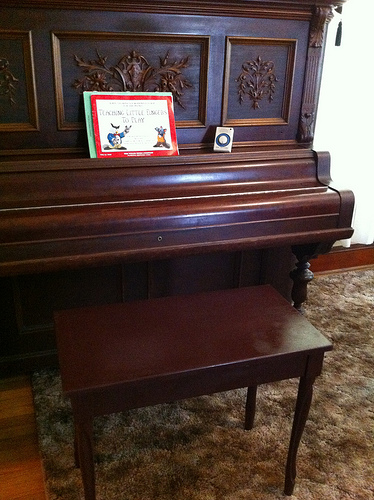 Piano Bench painted with Kona Brown