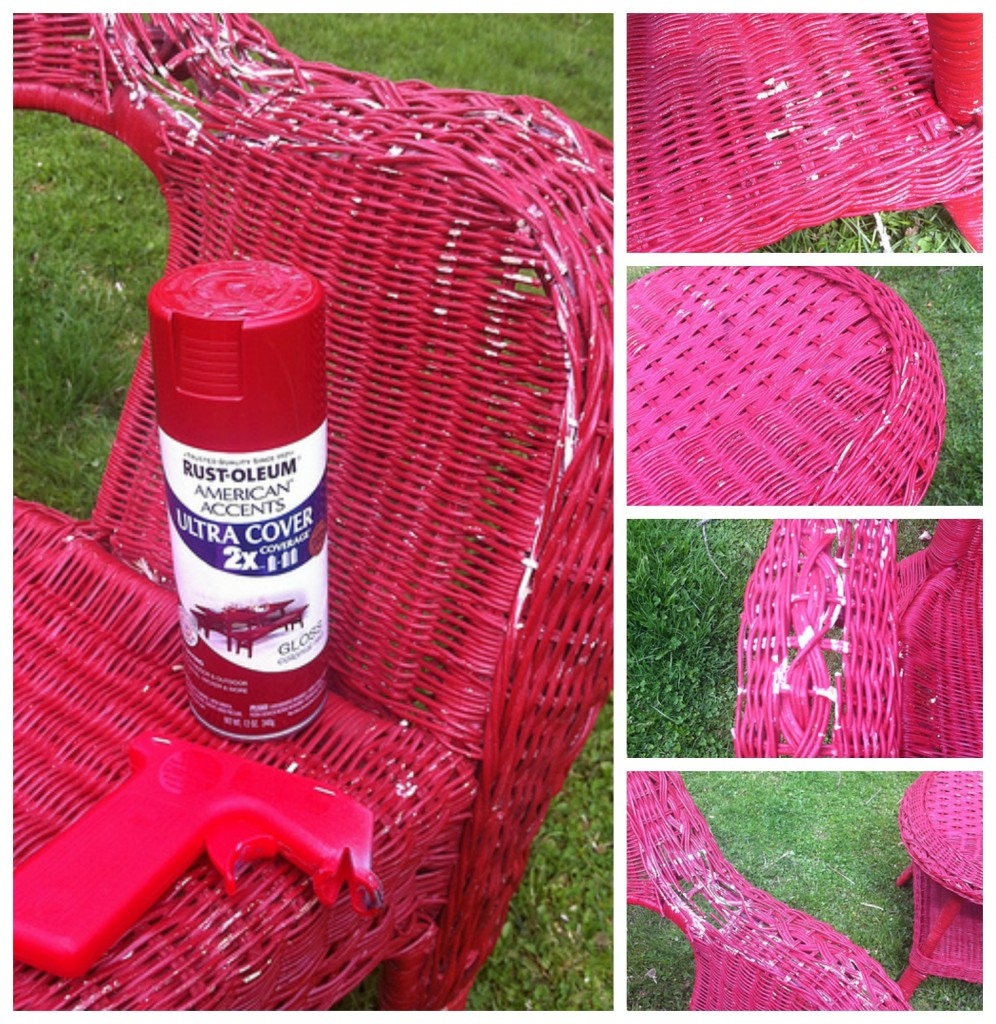 Red Wicker Collage