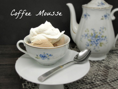 a coffee mousse