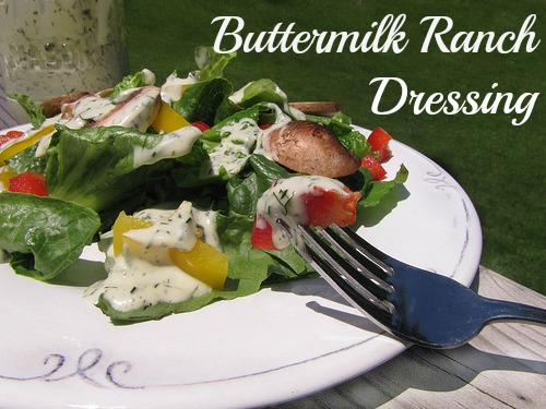 Homemade Buttermilk Ranch with Garden Gourmet