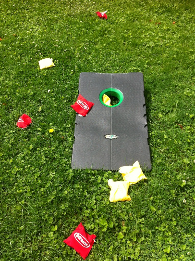 Scoring Points in Bean Bag Toss Cornhole