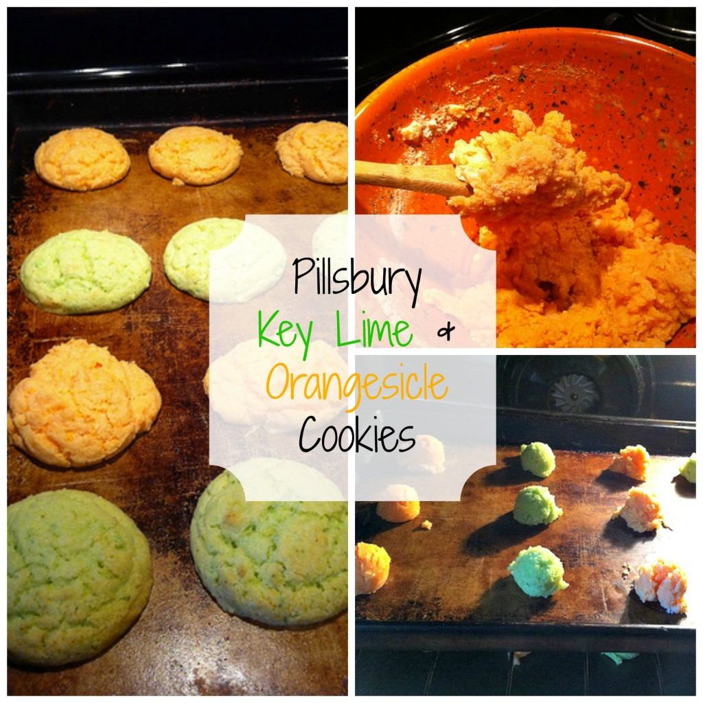Pillsbury Key Lime Orangsicle Cookie Collage