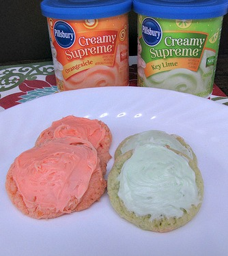 Pillsbury Orange Lime Cookies frosting