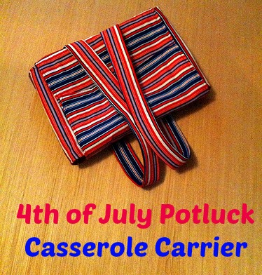 Fourth of July Potluck casserole carrier  9
