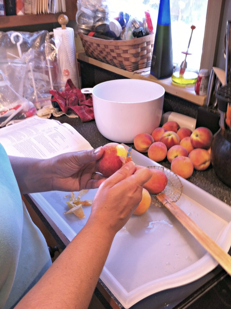 Peeling Peaches for Canning