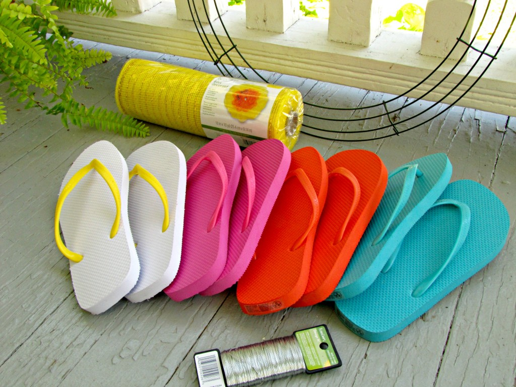 Materials for Flip Flop Wreath