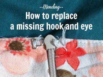 Mending -- How to replace a missing hook and eye