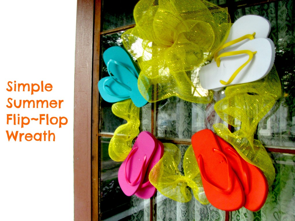 Simple Summer Flip Flop Wreath