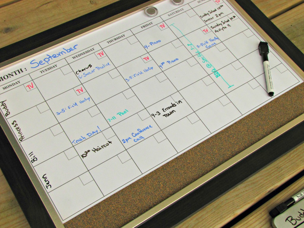 Adjusting a month calendar