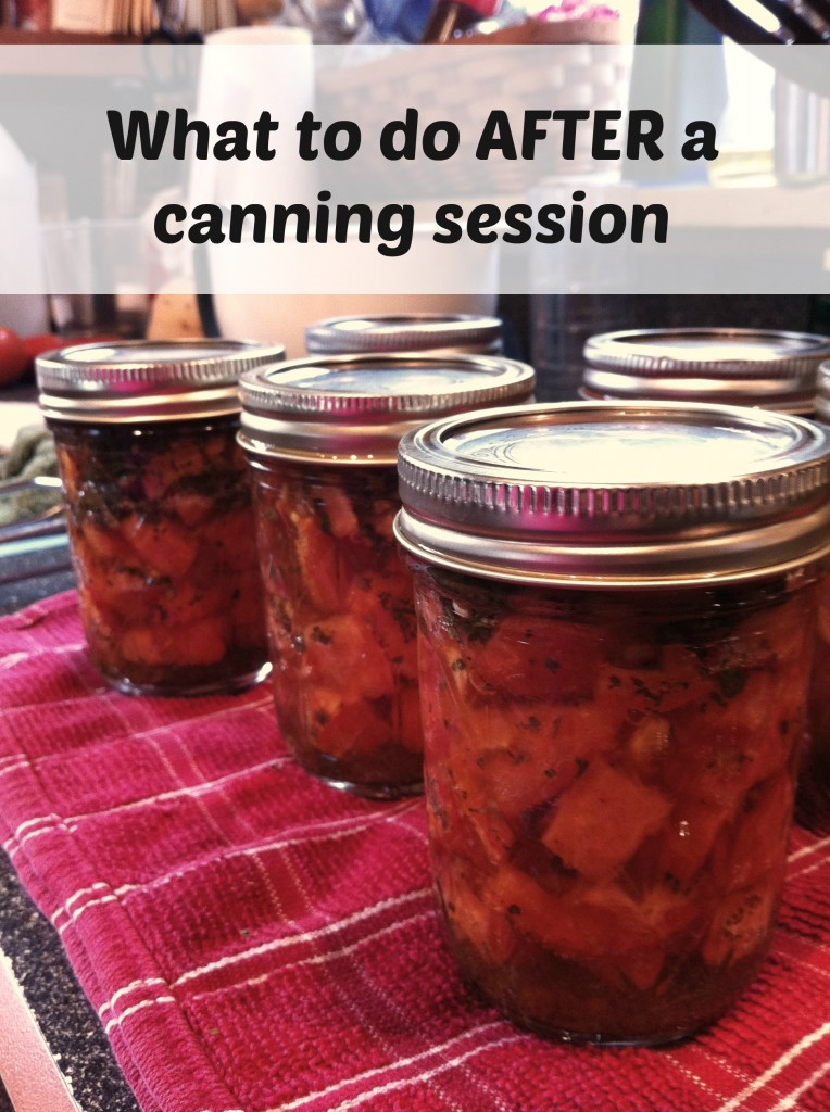 What to do after a canning session