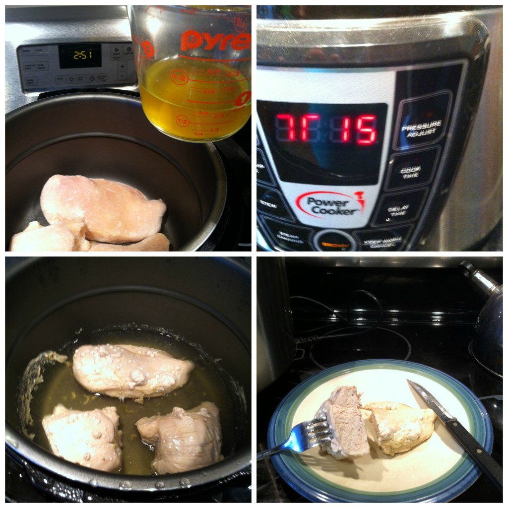 Powercooker Frozen Chicken Collage