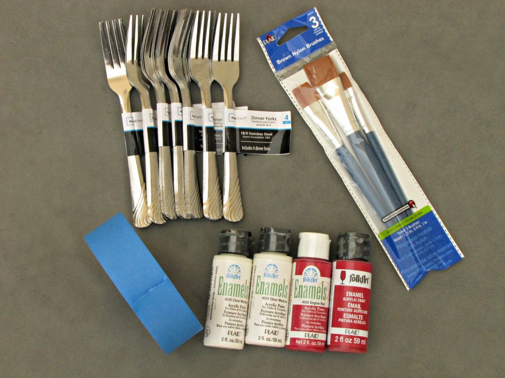 Painted Utensils materials