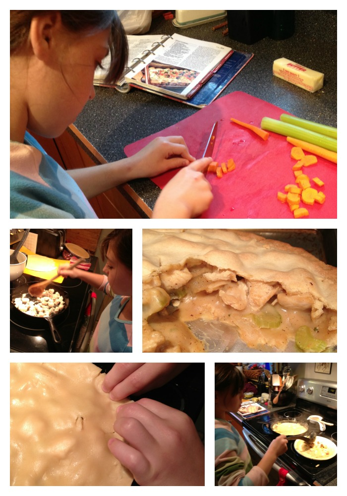 Princess Making Chicken Pot Pie