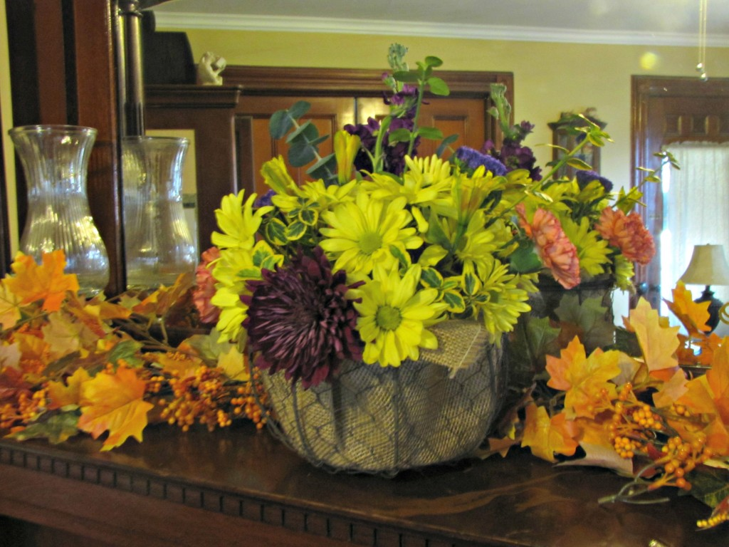 How to Make a Thanksgiving Centerpiece from a Walmart Bouquet ...