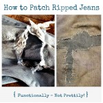 Mending:  Functional Patches for Ripped Jeans