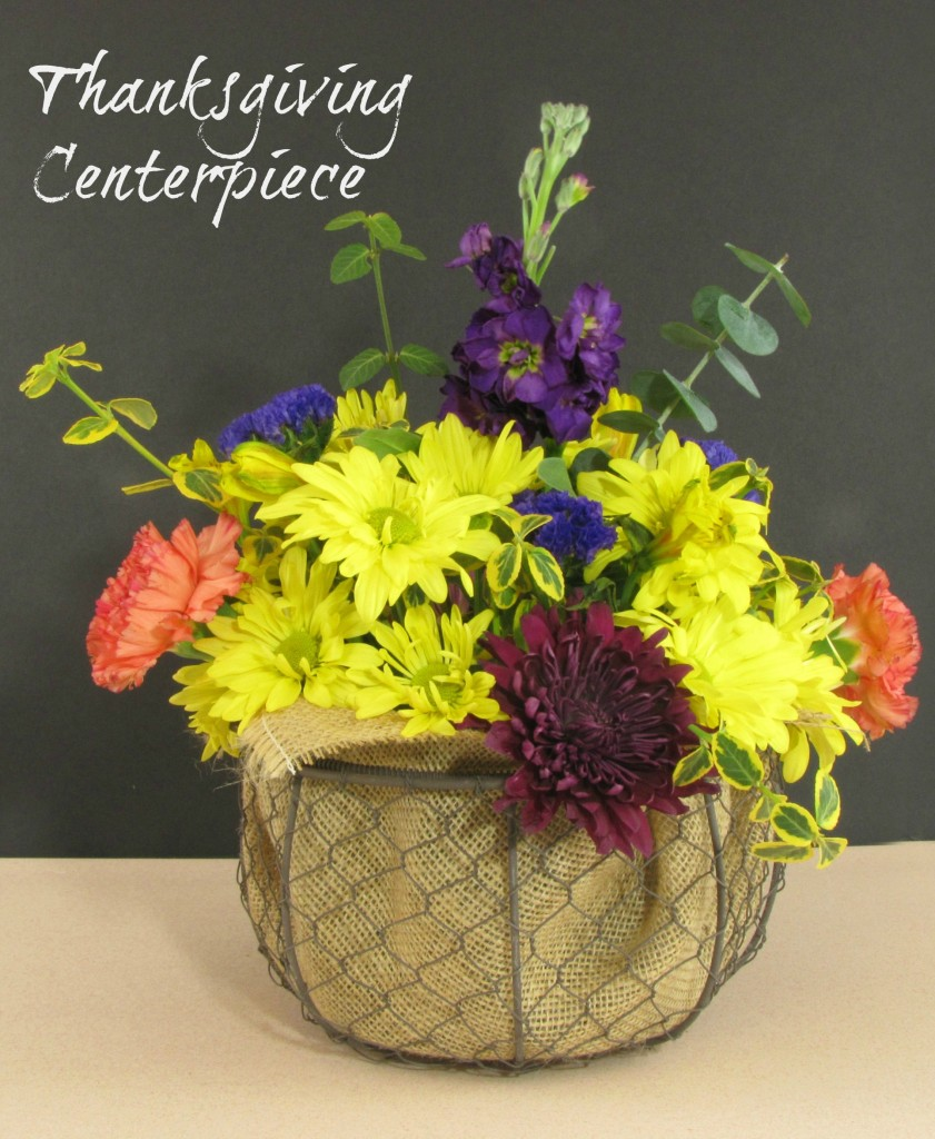 How to arrange your own Thanksgiving Centerpiece from a Walmart Bouquet